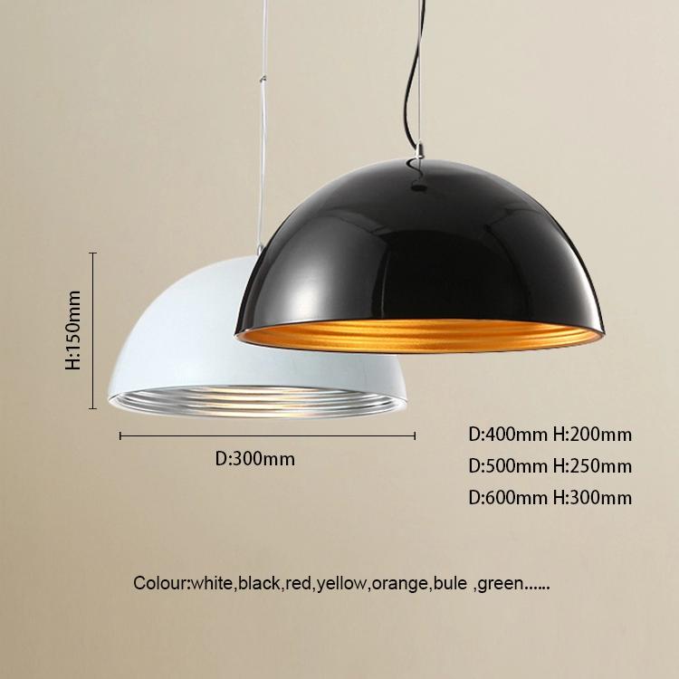 High Quality Homemade Wholesale metals pendant light modern